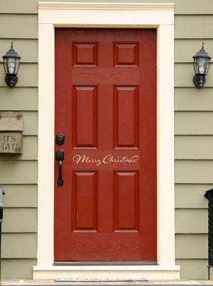 Merry Christmas Decal - Front Door Decal - Holiday wall decal - Christmas Decor