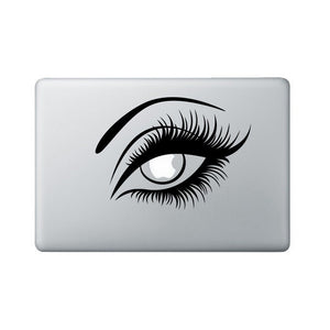 Eye Macbook Decal - Sexy Girl Laptop Decal - Eyelashes Decal