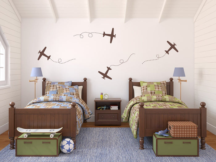 Airplane Decal - Nursery Decor - Plane Decal - Boys Room Decal - Set of 4 - Large