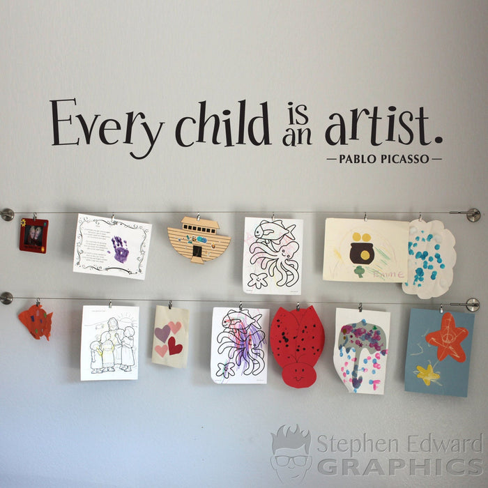 Every Child is an Artist Wall Decal - Children Artwork Display Decal - Teacher Decal