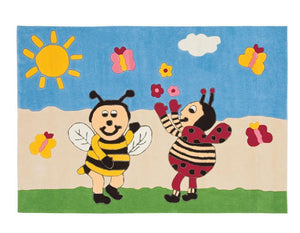 Arte Espina Kids Bumble Bee And Lady Bird Rug