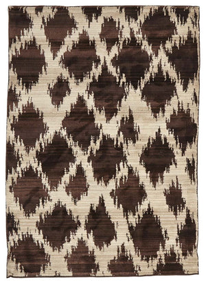 Moroccan Style  Diamond Design Chocolate Rug