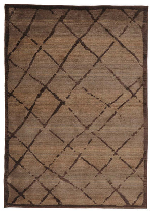 Moroccan Style  Rustic Design Chocolate Rug