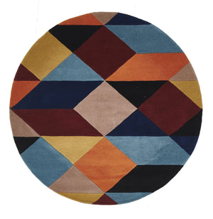 Matrix Pure Wool Sunset Round Rug