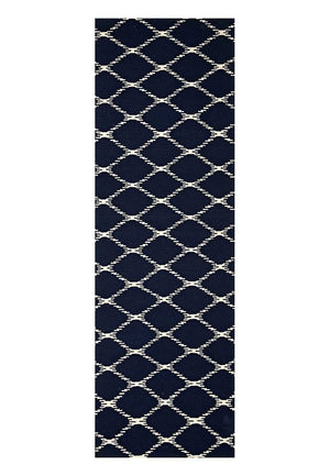 Nomad Pure Wool Flatweave 19 Navy Runner