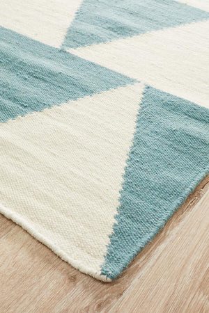Nomad Pure Wool Flatweave 26 Blue Runner