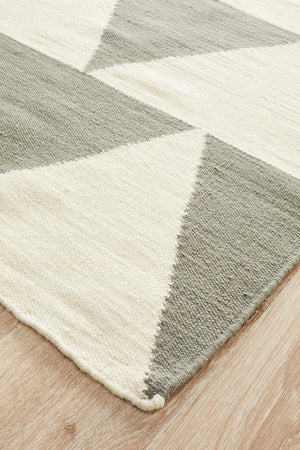 Nomad Pure Wool Flatweave 26 Grey Runner