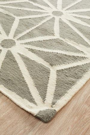 Nomad Pure Wool Flatweave 29 Grey Runner