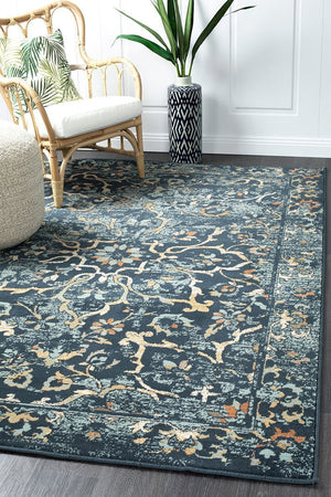 Oxford Mayfair Stem Navy Rug