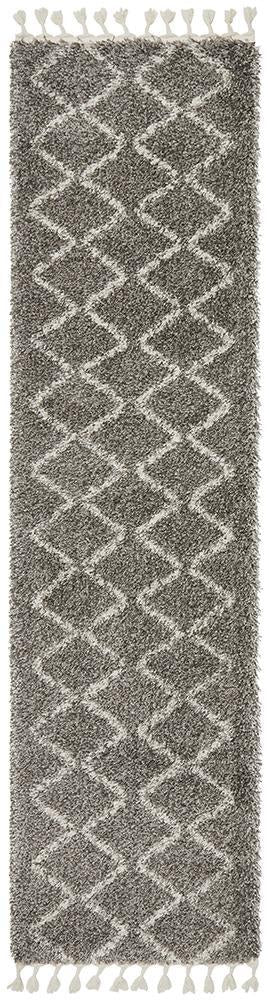 Saffron 11 Grey Runner Rug