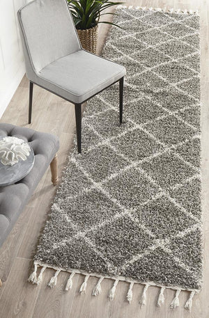 Saffron 22 Grey Runner Rug