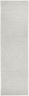 York Cindy  Natural White Runner Rug