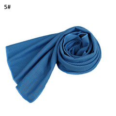 Solid Color Mesh Cooling Ice Cold Towel