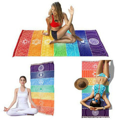 Rainbow Stripes Wall Hanging Yoga Mat
