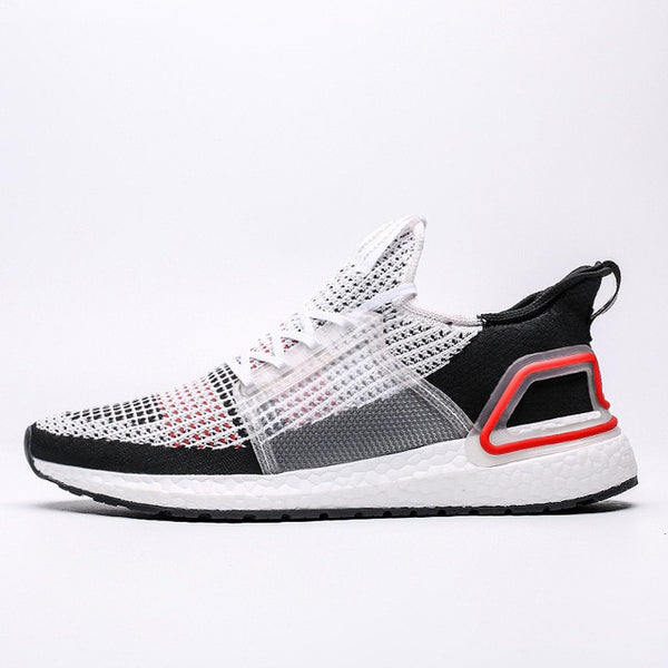 White Black Ultraboost Mens Running Shoes
