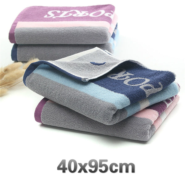 Cotton Striped Sports Bath Towel