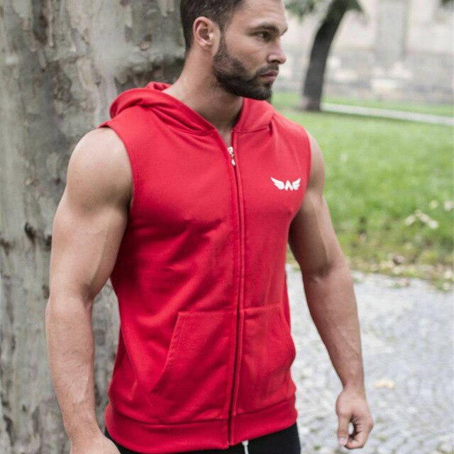 Fitness Hooded Tank Tops