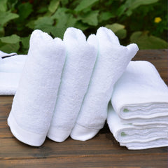Five-star hotel pure white cotton towel