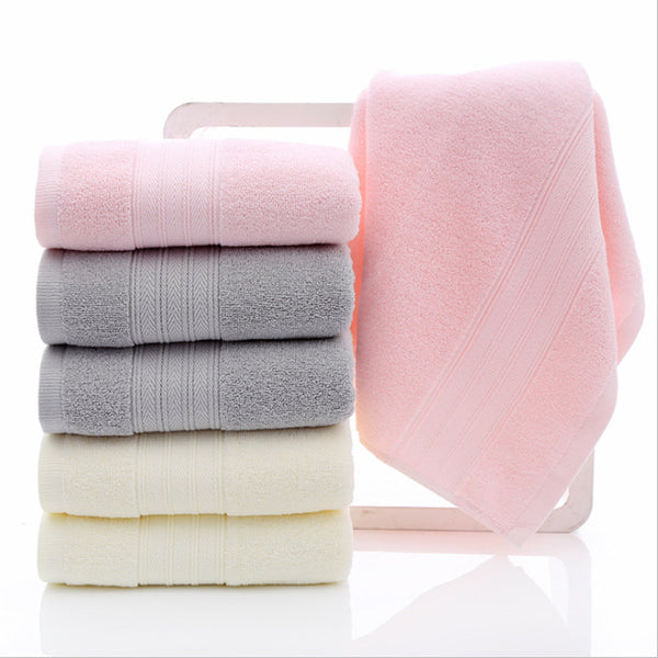100% Solid Cotton Face Towel