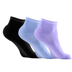 3 Pair Anti-Slip Yoga Ankle Socks