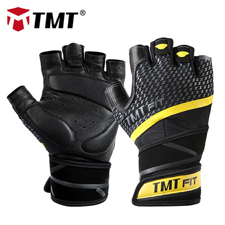 TMT Leather Gym Gloves
