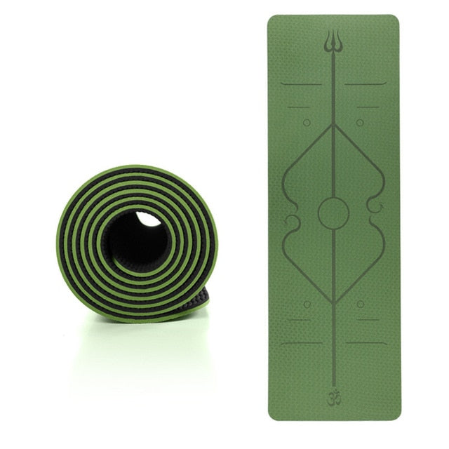 TPE Yoga Mat with Position Line