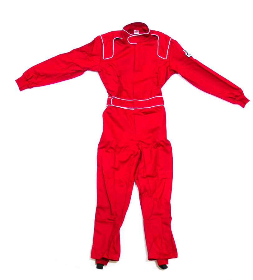 Driving Suit 1-Piece Red 1-Layer Proban XXXL