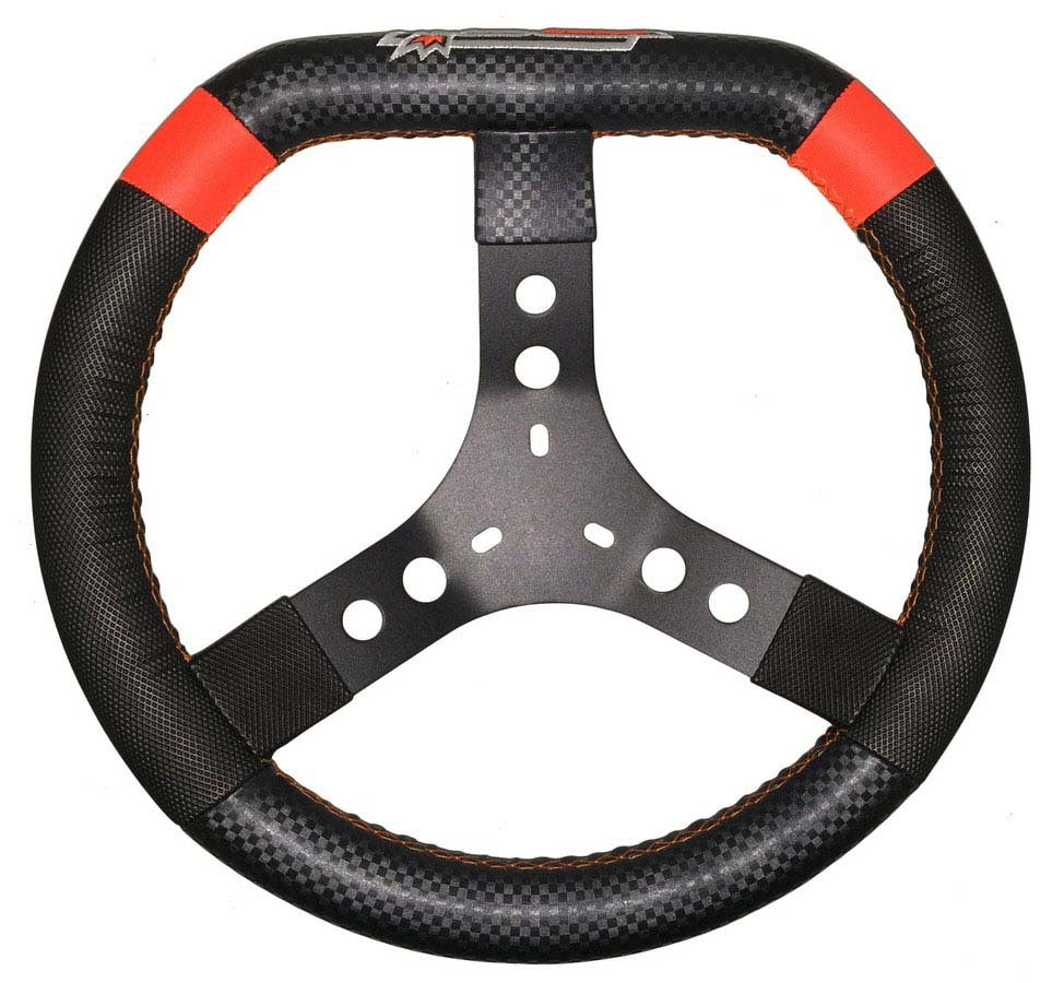 14in 3-Bolt Aluminum D-Shaped steering Wheel High Grip