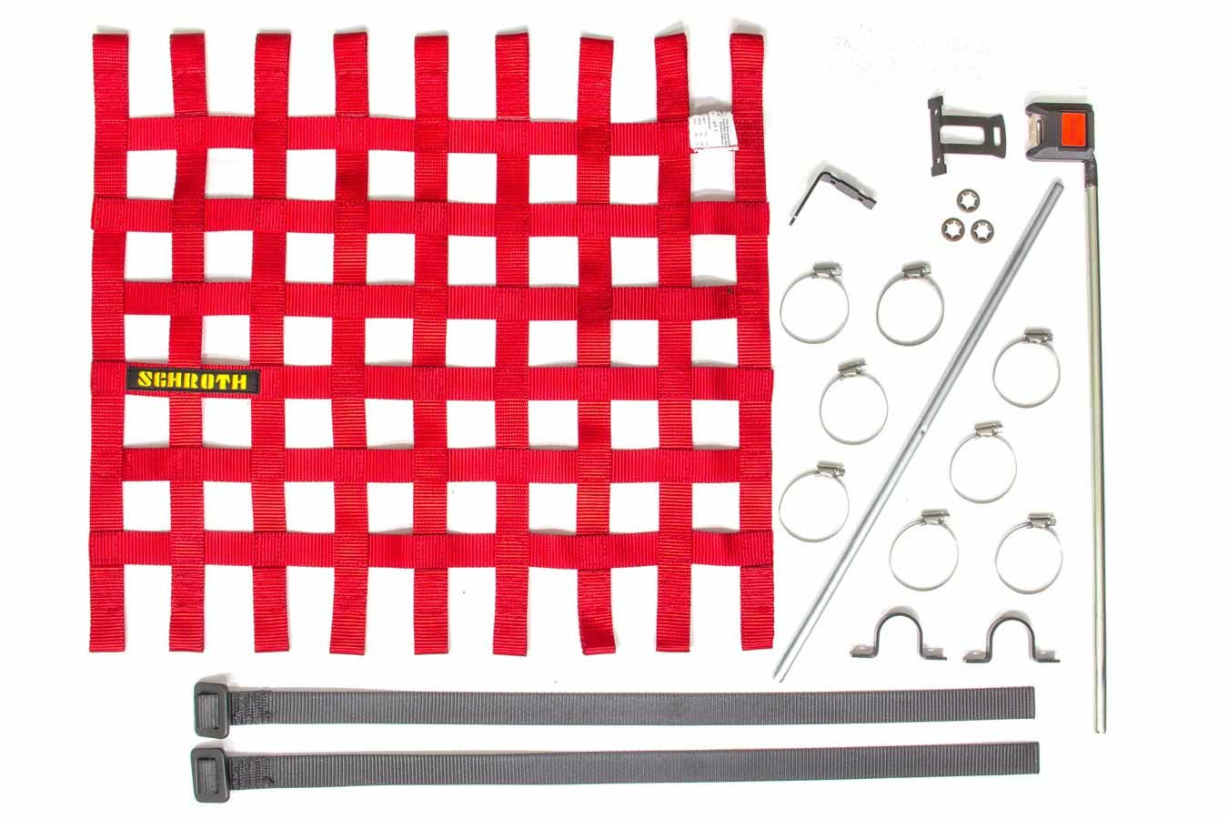 Window Net Kit Red 20in x 18.5in w/Hardware