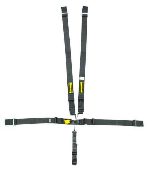 5pt Harness System SFI LatchLink Black 3in Shld