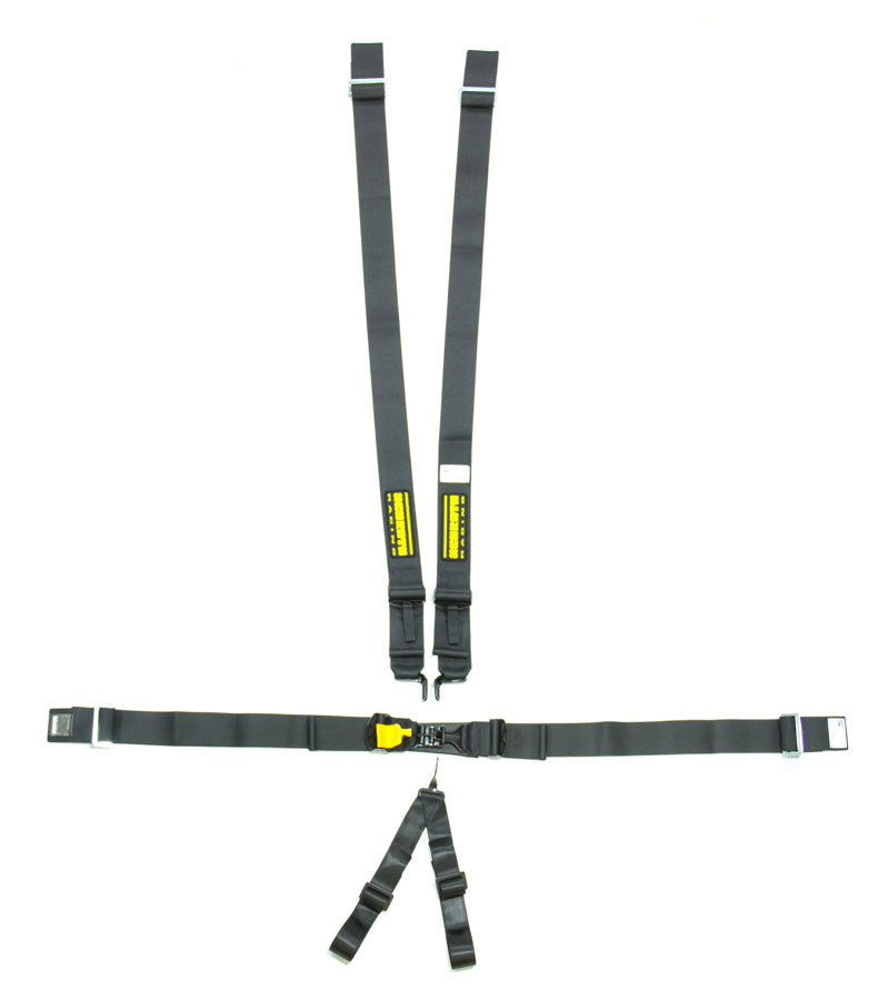 6pt Harness System SFI LatchLink Black 3in Shld- Safety