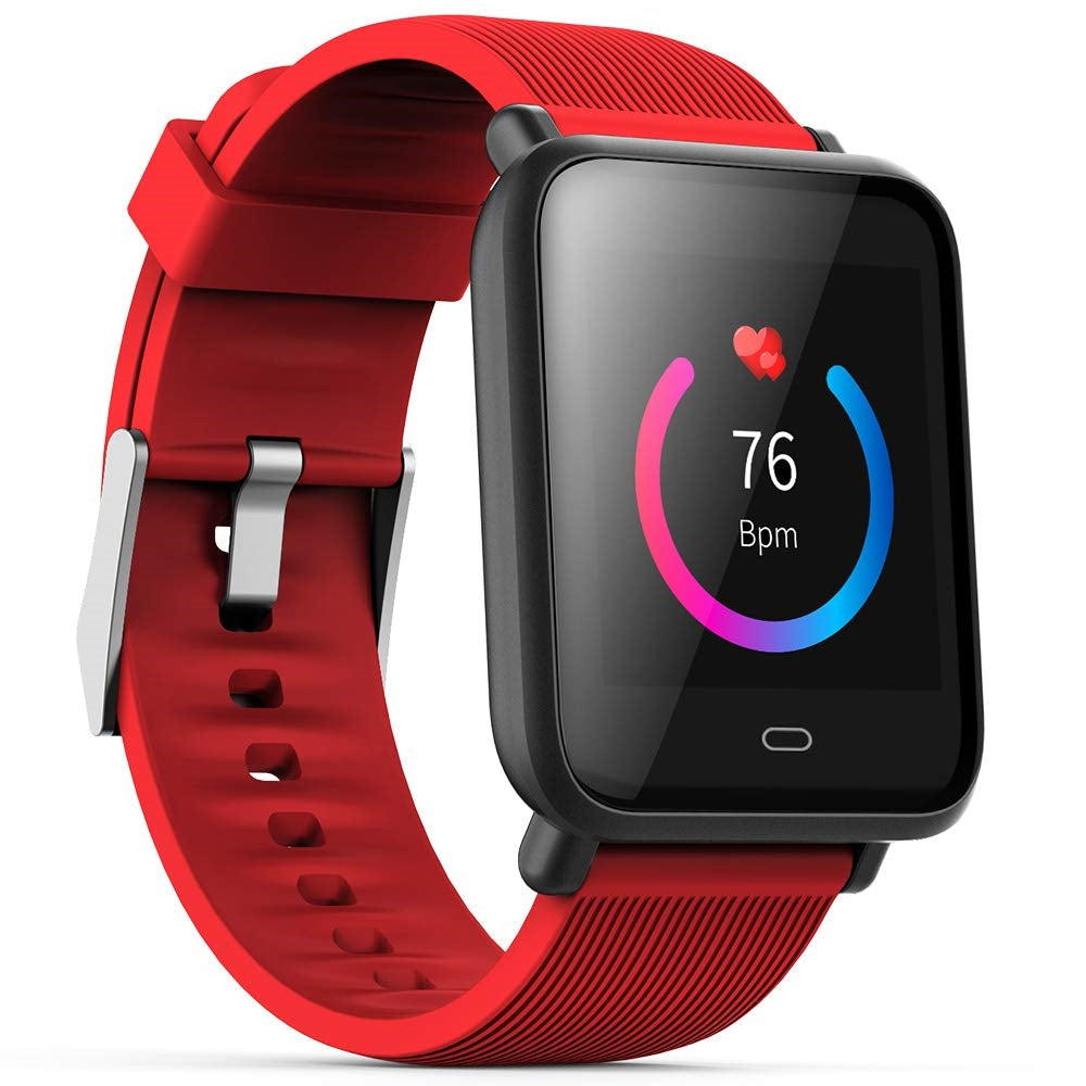 Minismile Q9 Waterproof Sports Blood Pressure Heart Rate Monitor Smart Watch
