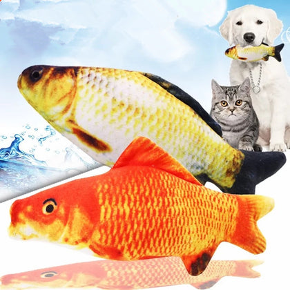 Catnip Simulation Plush Fish Shape Toy for Cats
