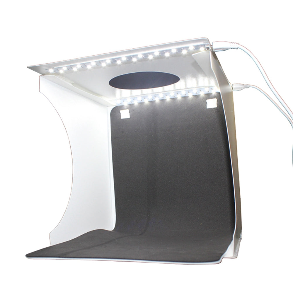 Portable Button Folding Studio Version Light Box Black / White Back Frame