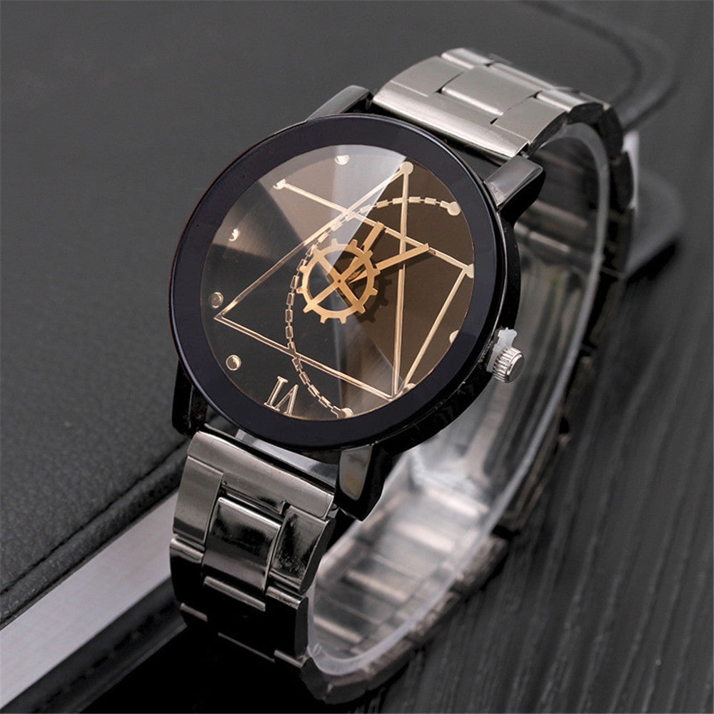 REEBONZ Luxury Fashion Stainless Steel Watch Men Quartz Analog Wristwatch