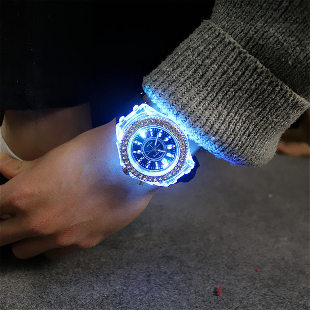 Led Light Flash Luminous Watch Personality Trends Students Lovers WristWatch