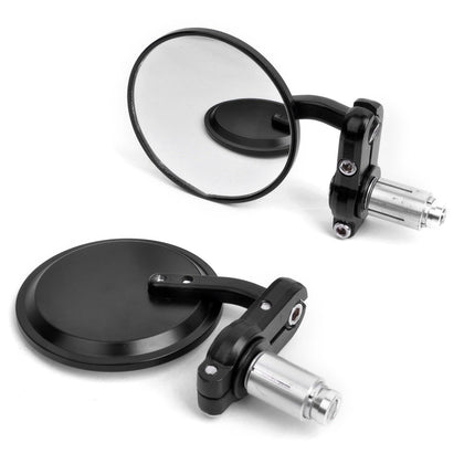 22mm Round Motorcycle Rearview Side Mirrors Handle Bar End for Honda KTM Yamaha