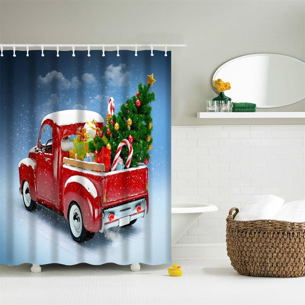 Truck Christmas Tree 3D Digital Printing Fabric Waterproof and Mildewproof