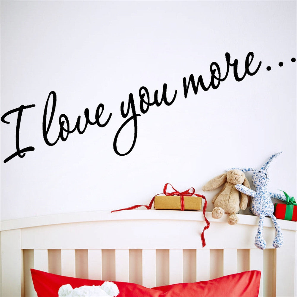 Quote Wall Sticker I Love You For Home Decoration Waterproof Removable Decals