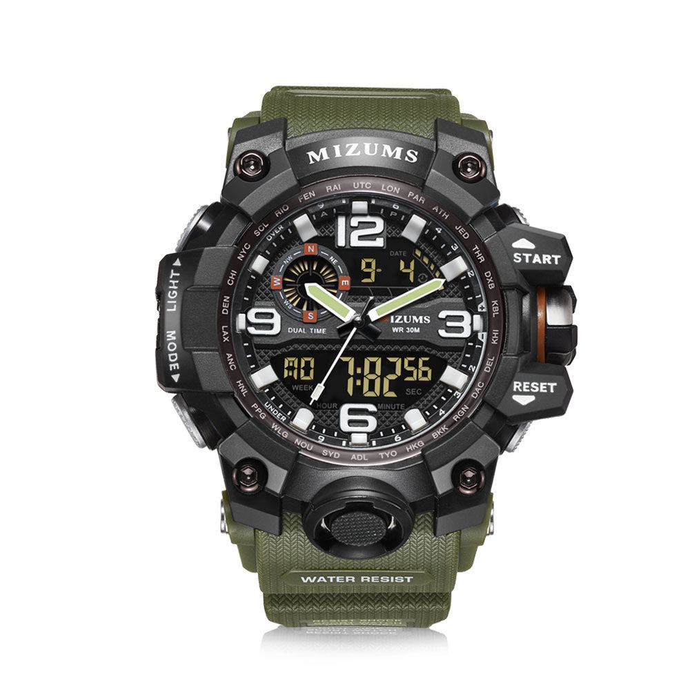 Mizums Men's Fashion Sport Date Clock LED Military Waterproof Electronic Watches
