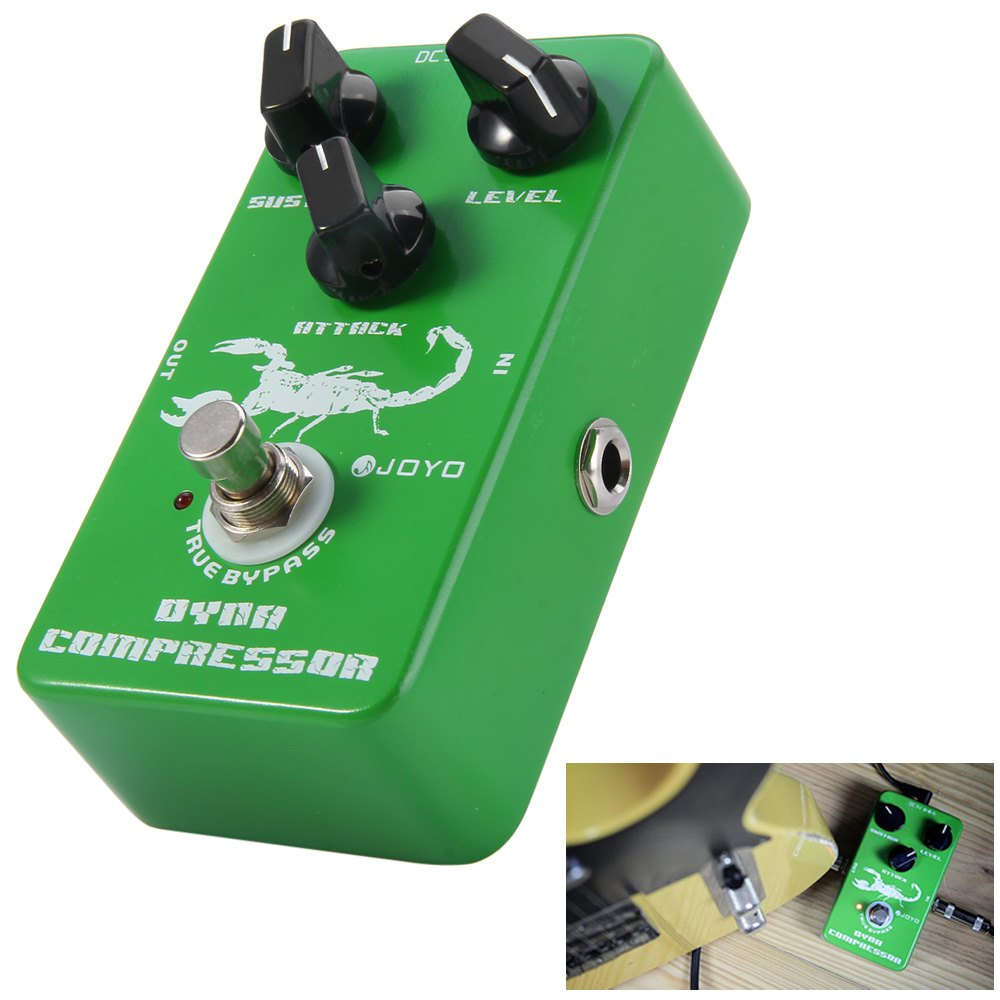 JOYO JF - 10 True Bypass Design Dynamic Compressor Guitar Effect Pedal with Aluminum Alloy Casing