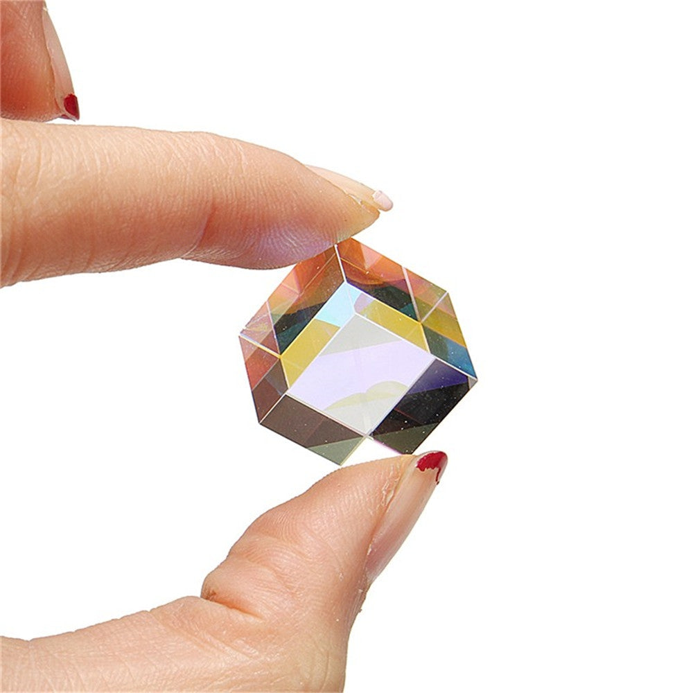 15mm x 15mm Optical Cube Prism Laser Beam Combination Toy