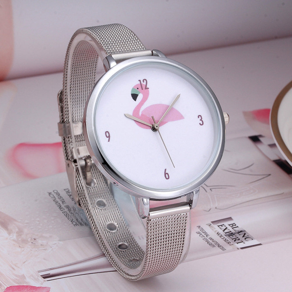 Women'S Watch Faddish Style Round Dial Watch Trendy Exquisite Accessory
