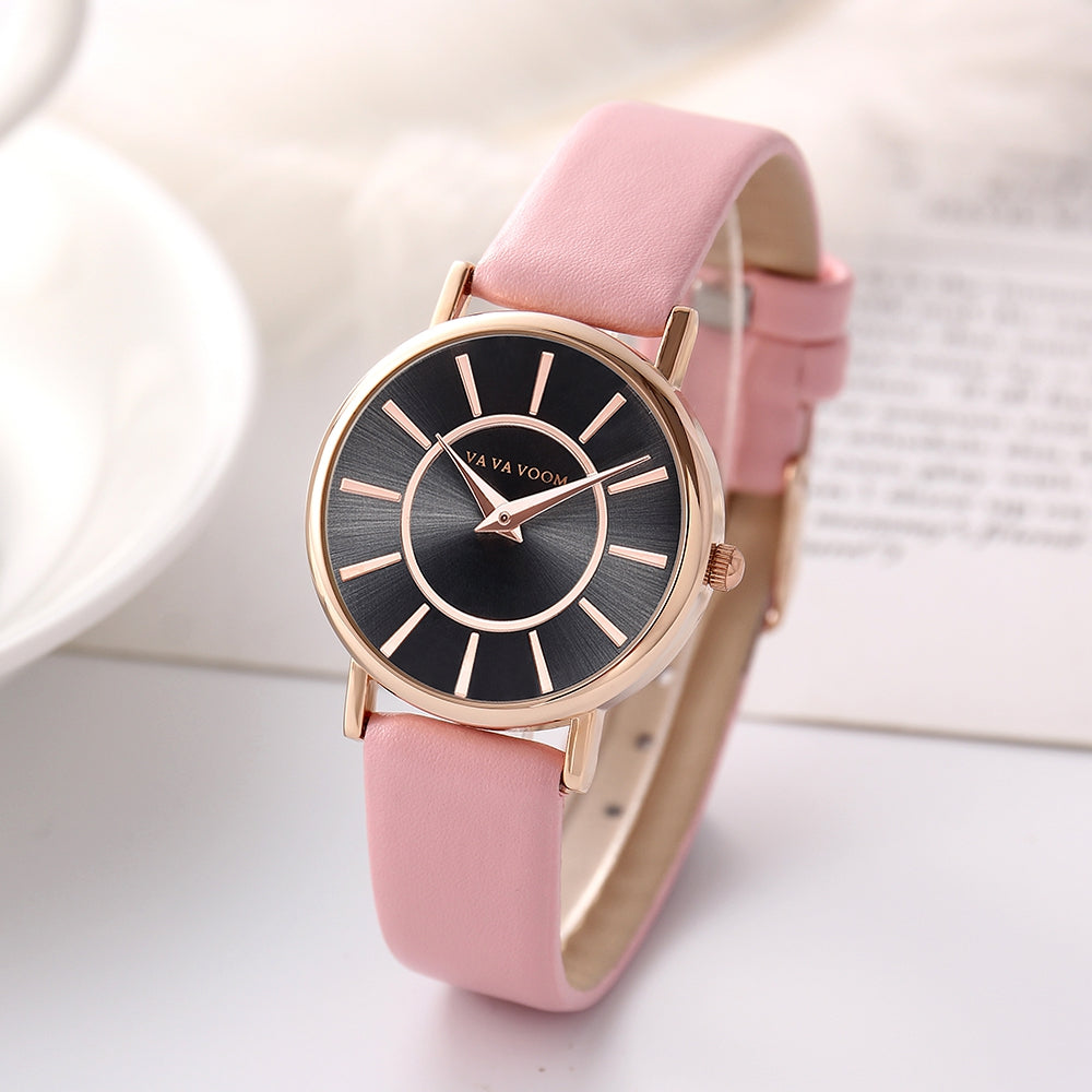 VA Personality Design Women's Delicate Style Casual Fashion Quartz Belt Watch
