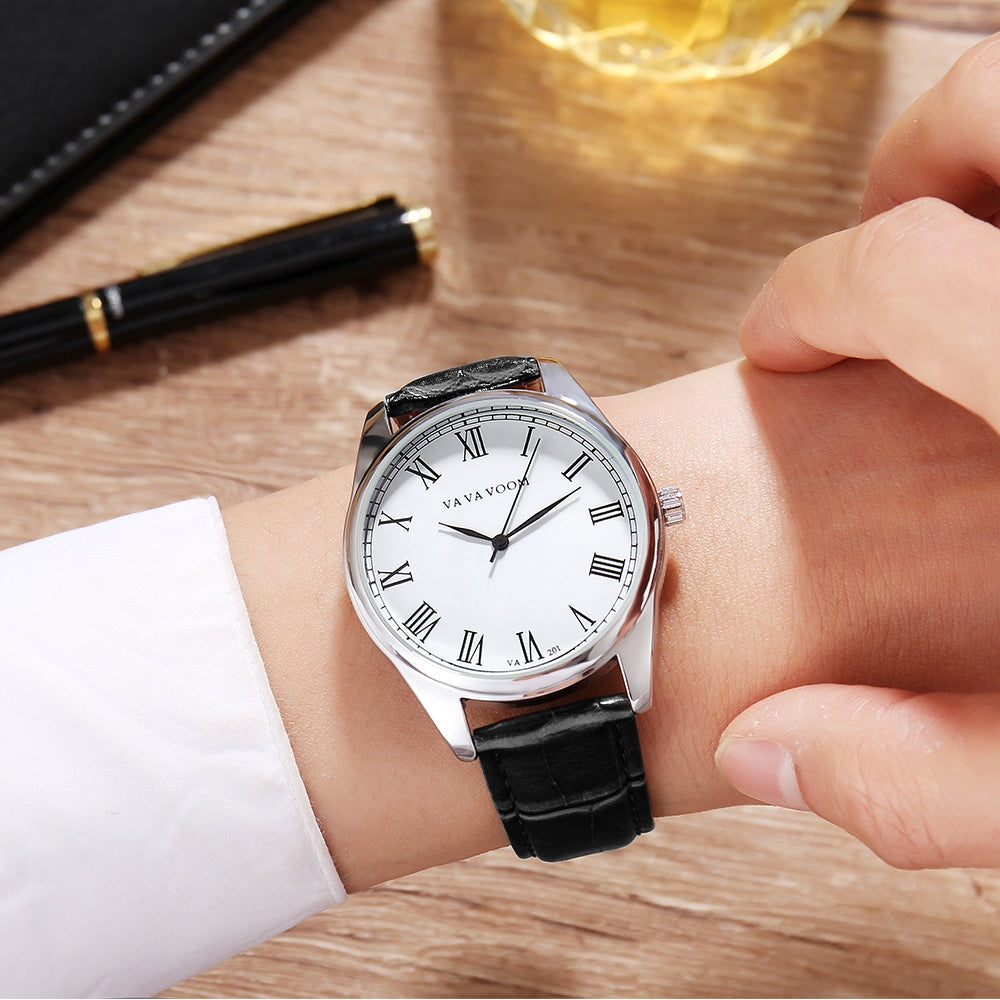 New Fashion Simple Men's Business Casual Belt Watch