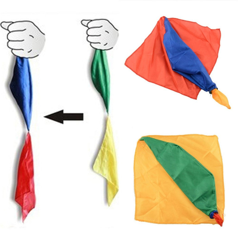 Four-color Silk Scarves Change Color Magic Close-up Conjuring Prop