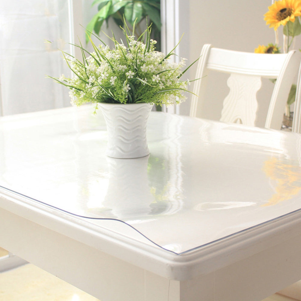 PVC Transparent Soft Glass Crystal Plate Plastic Tablecloth Table Mat