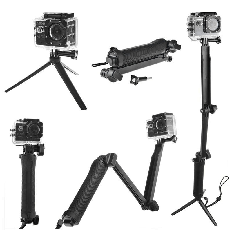 3 Way Grip Waterproof Monopod Selfie Stick for Go Pro Hero / SJ4000 / Xiaomi Yi 4K Camera Tripod Go Pro Accessories