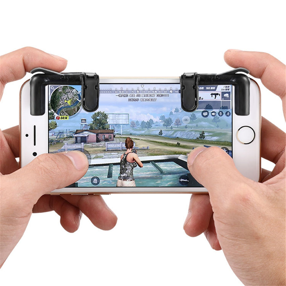 2PCS Mobile Gaming Shooting Game Fire Button Aim Key Buttons L1 R1 Controller