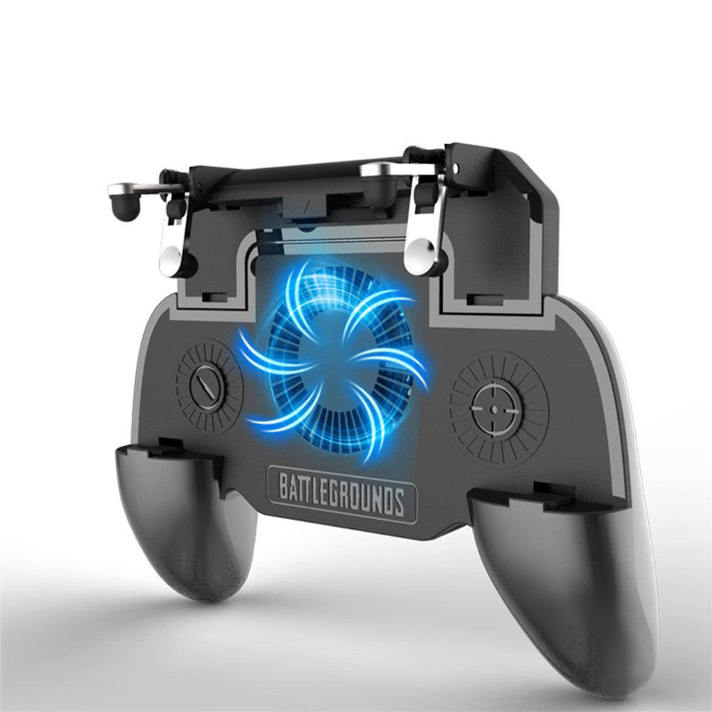 Mobile Game Cooling Fan with 4000mAh Battery Trigger Fire Button L1R1 Controller